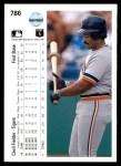 1990 Upper Deck #786  Cecil Fielder  Back Thumbnail