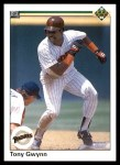 1990 Upper Deck #344  Tony Gwynn  Front Thumbnail