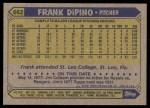 1987 Topps #662  Frank DiPino  Back Thumbnail