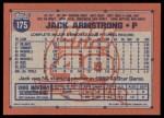 1991 Topps #175  Jack Armstrong  Back Thumbnail