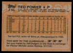 1988 Topps #236  Ted Power  Back Thumbnail
