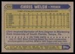 1987 Topps #592  Chris Welsh  Back Thumbnail