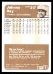 1983 Fleer #317  Johnny Ray  Back Thumbnail
