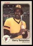 1983 Fleer #373  Garry Templeton  Front Thumbnail