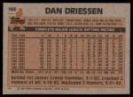 1983 Topps #165  Dan Driessen  Back Thumbnail