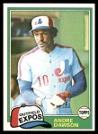 1981 Topps #125  Andre Dawson  Front Thumbnail
