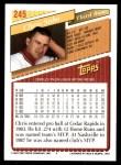 1993 Topps #245  Chris Sabo  Back Thumbnail