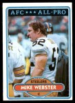 1980 Topps #350  Mike Webster  Front Thumbnail