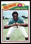 1977 Topps #172  Larry Little  Front Thumbnail
