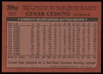 1982 Topps Traded #19 T Cesar Cedeno  Back Thumbnail
