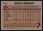 1983 Topps #139  Bruce Berenyi  Back Thumbnail