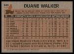 1983 Topps #243  Duane Walker  Back Thumbnail