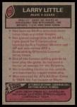 1977 Topps #172  Larry Little  Back Thumbnail