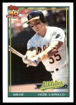 1991 Topps #162  Ozzie Canseco  Front Thumbnail