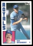 1984 Topps #570  Dan Quisenberry  Front Thumbnail