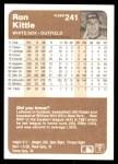 1983 Fleer #241  Ron Kittle  Back Thumbnail