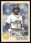 1983 Fleer #639   -  Rickey Henderson The Silver Shoe Front Thumbnail