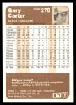 1983 Fleer #278  Gary Carter  Back Thumbnail