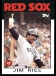 1986 Topps #320  Jim Rice  Front Thumbnail