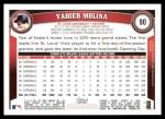 2011 Topps #90  Yadier Molina  Back Thumbnail