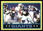 1986 Topps #137   -  Joe Morris / Lionel Manuel / Elvis Patterson / Leonard Marshall / Lawrence Taylor Giants Leaders Front Thumbnail