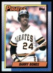 1990 Topps #220  Barry Bonds  Front Thumbnail