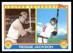 1983 Topps #501   -  Reggie Jackson Super Veteran Front Thumbnail