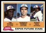 1981 Topps #479   -  Tim Raines / Roberto Ramos / Bob Pate Expos Front Thumbnail