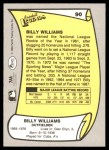 1988 Pacific Legends #90  Billy Williams  Back Thumbnail