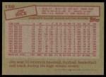 1985 Topps #150  Jim Rice  Back Thumbnail