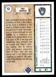 1989 Upper Deck #13  Gary Sheffield  Back Thumbnail