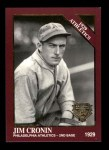 1994 Conlon Burgundy #1158   -  Jim Cronin 1929 Athletics Front Thumbnail