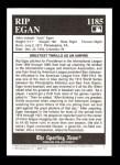 1994 Conlon Burgundy #1185   -  Jack Egan Umpires Back Thumbnail