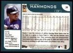 2001 Topps #31  Jeffrey Hammonds  Back Thumbnail