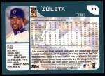 2001 Topps #111  Julio Zuleta  Back Thumbnail