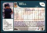 2001 Topps #115  Derek Bell  Back Thumbnail