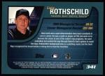 2001 Topps #341  Larry Rothschild  Back Thumbnail
