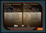 2001 Topps #354  Tripper Johnson / Scott Thorman  Back Thumbnail