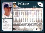 2001 Topps #410  Dean Palmer  Back Thumbnail