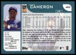 2001 Topps #415  Mike Cameron  Back Thumbnail