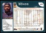 2001 Topps #497  Barry Bonds  Back Thumbnail