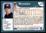 2001 Topps #506  Kris Benson  Back Thumbnail