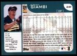 2001 Topps #641  Jeremy Giambi  Back Thumbnail
