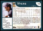2001 Topps #718  Mike Myers  Back Thumbnail
