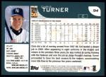 2001 Topps #94  Chris Turner  Back Thumbnail