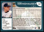 2001 Topps #147  Jason Isringhausen  Back Thumbnail