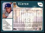2001 Topps #163  Kevin Elster  Back Thumbnail