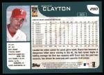 2001 Topps #280  Royce Clayton  Back Thumbnail