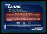 2001 Topps #400  Will Clark  Back Thumbnail