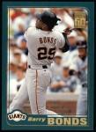 2001 Topps #497  Barry Bonds  Front Thumbnail